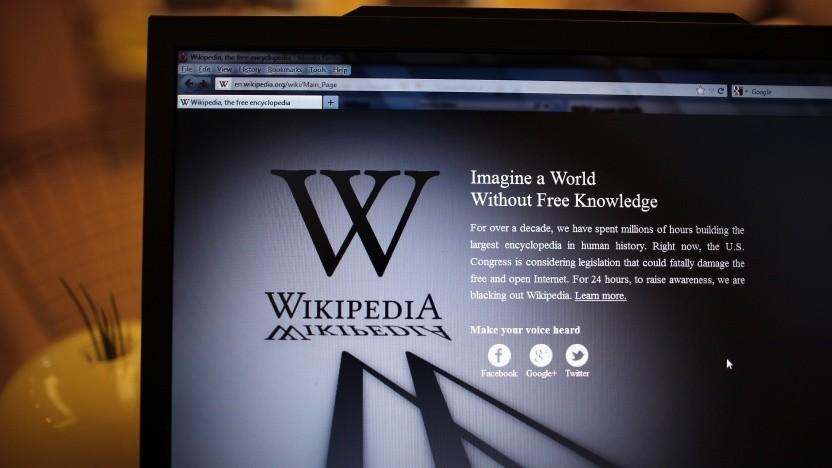 2012 hatte Wikipedia gegen ein US-Urhebergesetz mit einer Abschaltung protestiert.