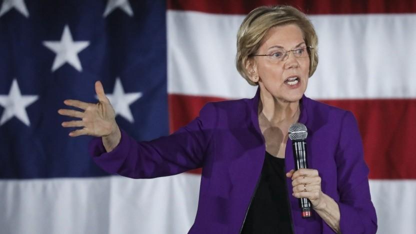 US-Politikerin Elizabeth Warren Anfang März 2019 bei einer Rede in New York