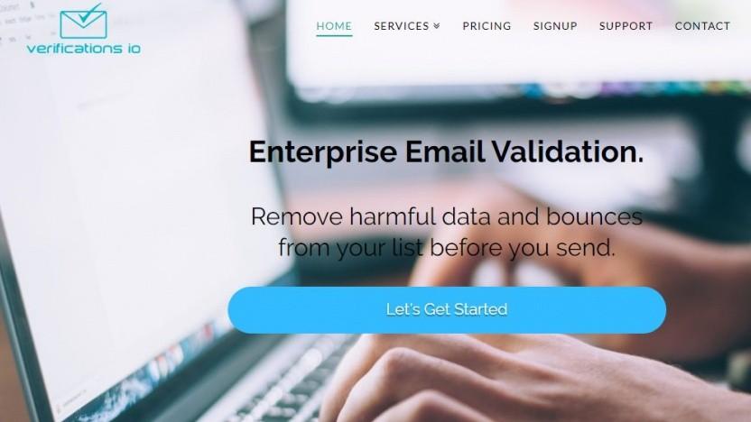 Das Unternehmen wirbt mit kommerziellerer E-Mail-Validierung.