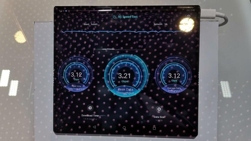 5G-Speedtest von Huawei auf dem MWC in Barcelona