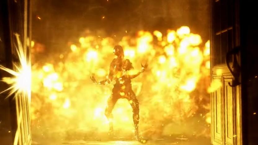 Ein in Flammen stehender Immolator