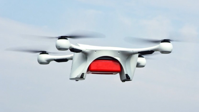 Eine Matternet-Drohne im Einsatz