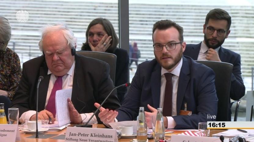 Jan-Peter Kleinhans (r.) Stiftung Neue Verantwortung und François Godement, Institut Montaigne