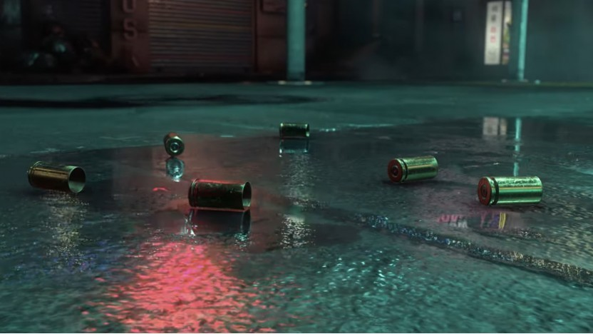 Szene aus der Neon-Noir-Techdemo