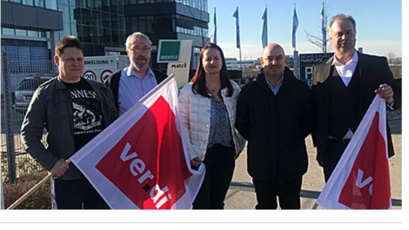 Verdi-Verhandlungskommission fordert in Neckarsulm Tarifverträge mit Bechtle.