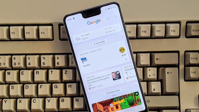 Der Discover-Feed der Google-App für Android