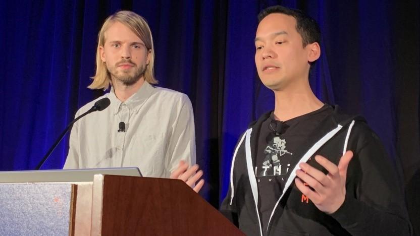 Daniel Nordlander und David Hoang von Bioware auf der GDC 2019
