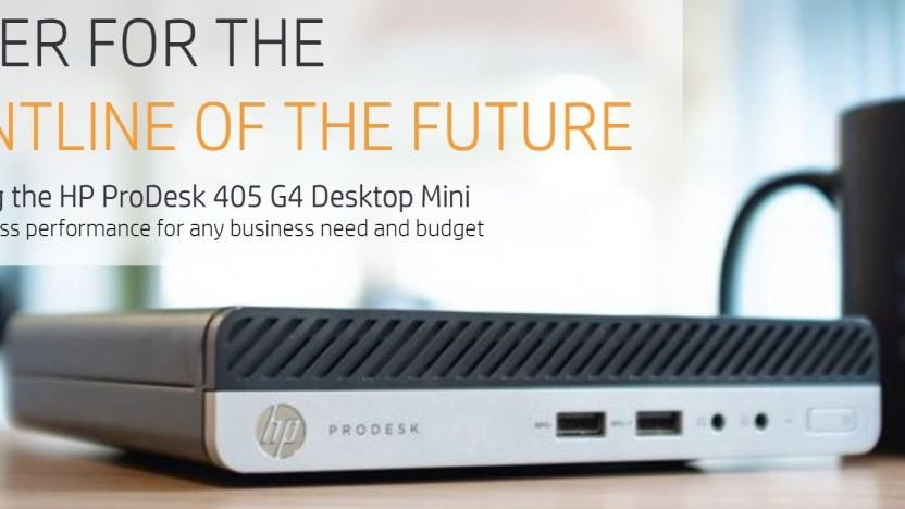 Der Prodesk 405 G4 ist kompakt.