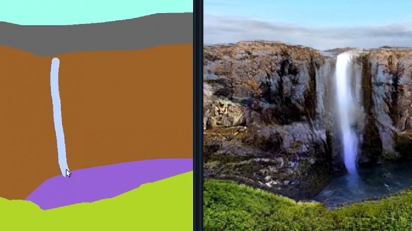 Gaugan generiert aus simplen Formen eine Landschaft.