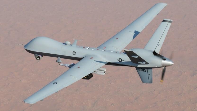 """Eine MQ-9 """"Reaper"""" der Air Force im Kampfeinsatz über Afghanistan"""