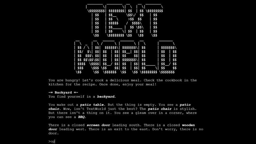 Textworld sieht aus wie ein herkömmliches Text-RPG.