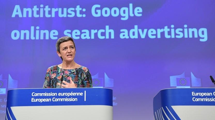 Google: Die Strafe wird von Margrethe Vestager verkündet.