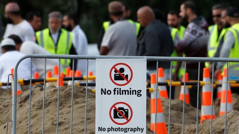 Drehverbot bei einer Trauerfeier für die Opfer des Anschlags von Christchurch
