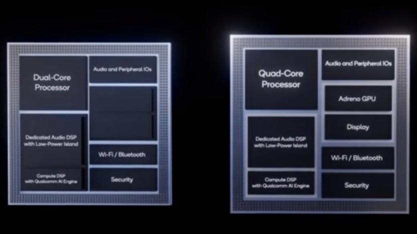 Auf dem QCS400 sind viele Komponenten verbaut.