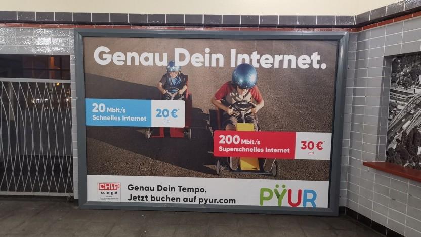 Werbung von Pyur in Brandenburg