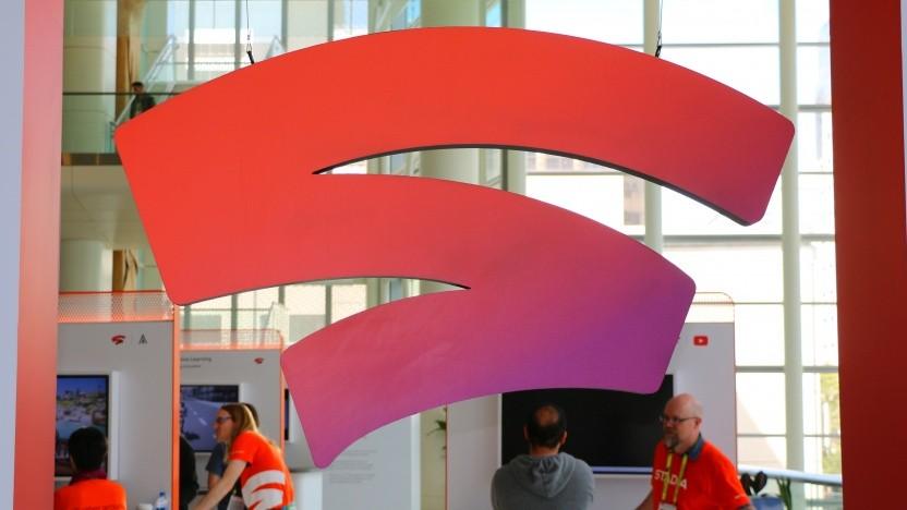 Logo von Stadia auf der GDC 2019