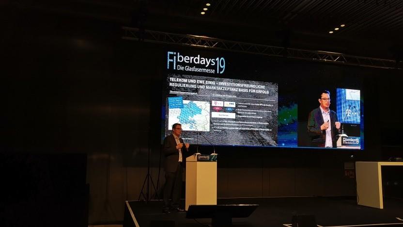 Dido Blankenburg, Vorstandsbeauftragter Breitbandkooperationen Telekom auf den Fiberdays des Breko in Wiesbaden