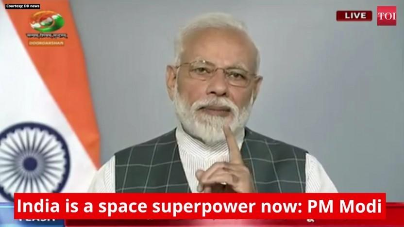 Premierminister Modi sagt, Indien sei nun eine Weltraumsupermacht.