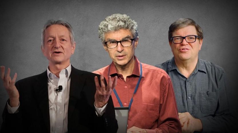 Geoffrey Hinton, Yoshua Bengio und Yann LeCun (v. l. n. r.) bekommen den Turing Award.
