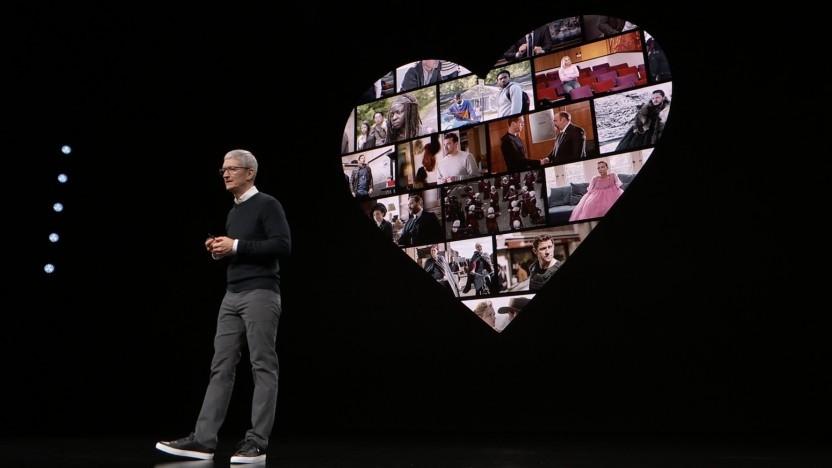 Apple-Chef Tim Cook bei der Präsentation von News+