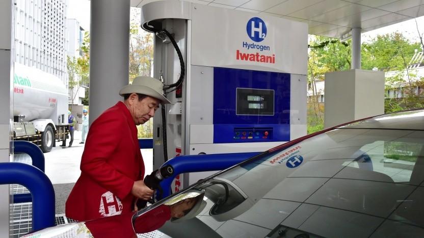 Wasserstofftankstelle in Tokio (Symbolbild): 2020 ist eine wichtige Etappe.