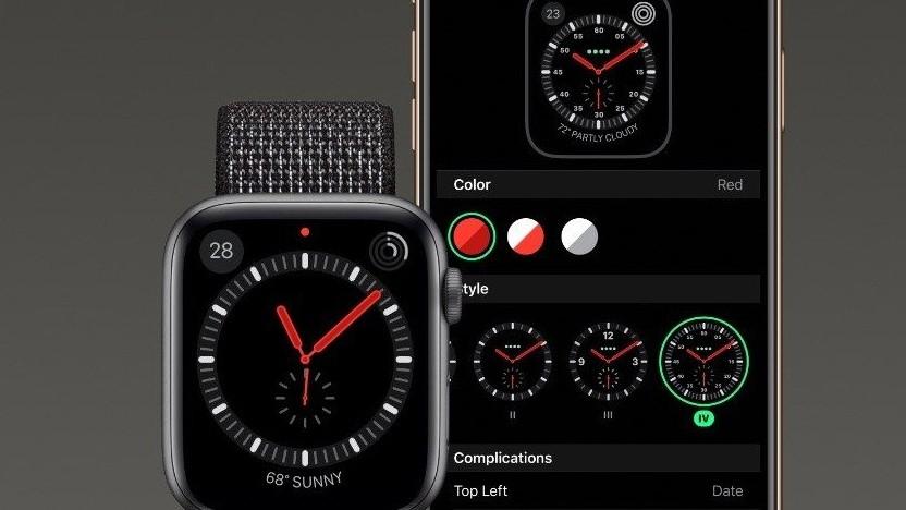 Apple Watch mit fehlenden Ziffern im Zifferblatt Explorer.