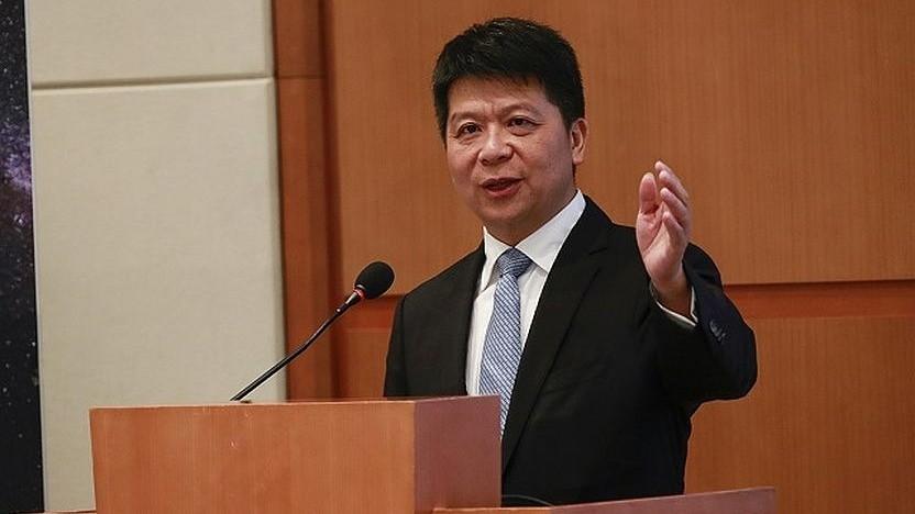 Der Huawei-Chef legt den Jahresbericht 2018 vor.
