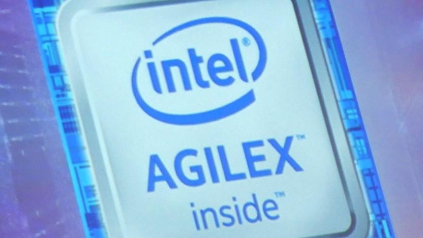 Logo von Intel Agilex-FPGAs