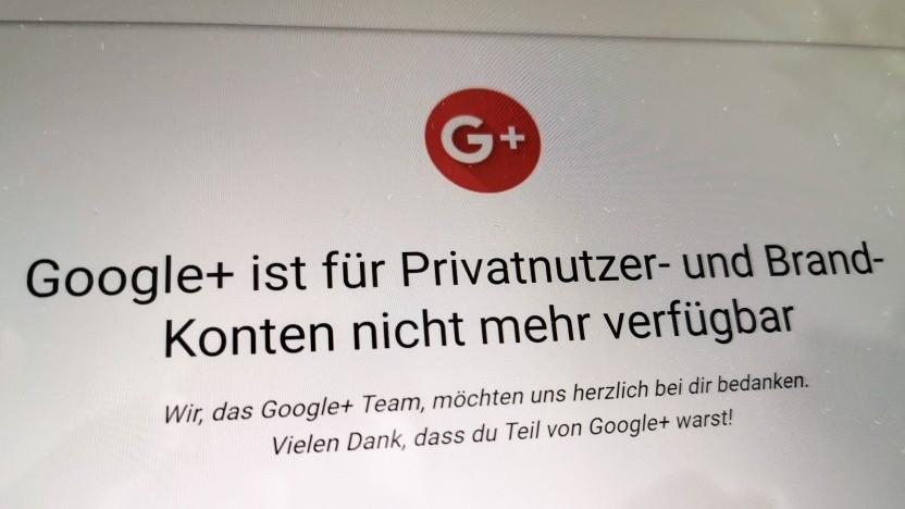 Google+ ist Geschichte.