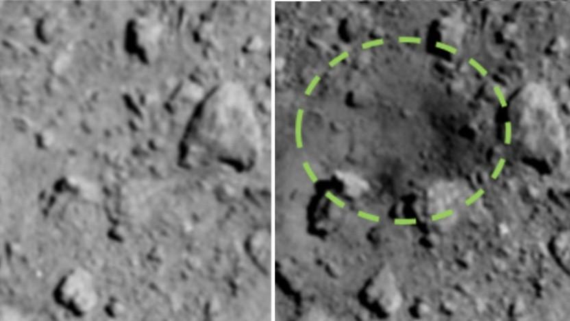 Der neuste Krater auf dem Asteroiden Ryugu ist das Werk von Hayabusa 2.