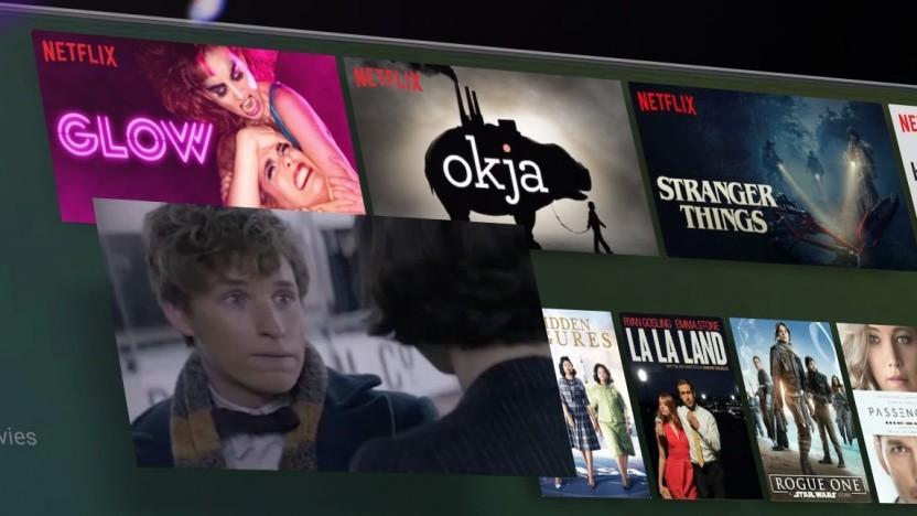 Der Startbildschirm von Android TV
