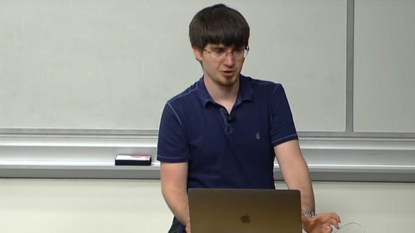 Ian Goodfellow bei einer Vorlesung der Stanford University