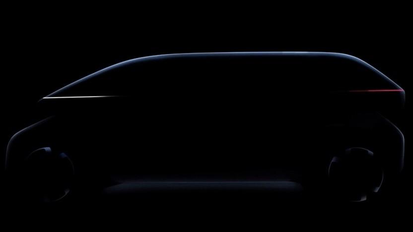 Das soll ein neues Elektroauto darstellen.