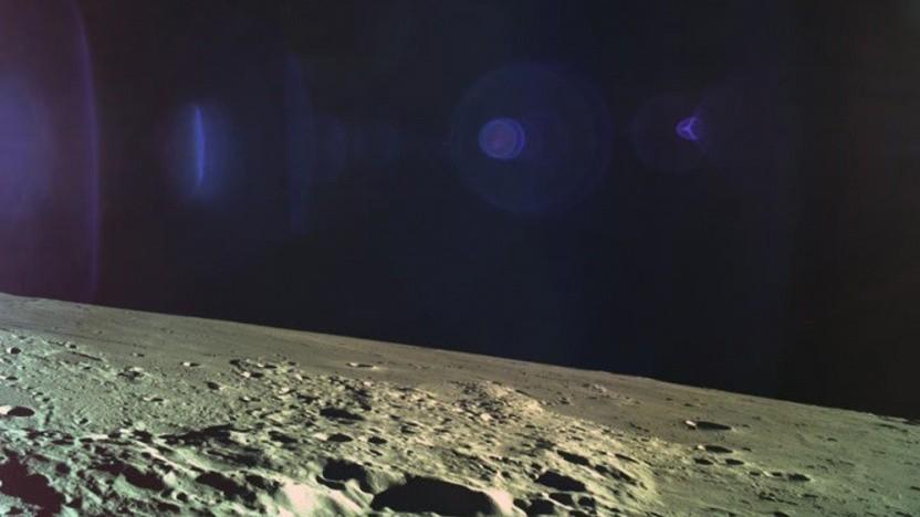 Das letzte Bild des Landers, bevor der Kontakt abbrach