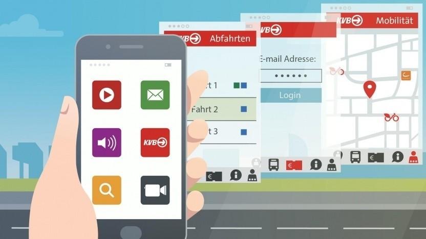 Ticketkauf bei den Kölner Verkehrsbetrieben per App