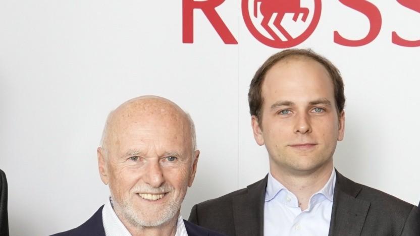 Gründer Dirk Roßmann (l.), Raoul Roßmann