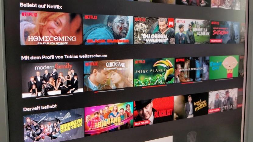 Bisher gibt es nur Beliebtheitslisten ohne Sortierung bei Netflix.