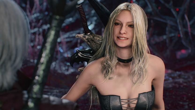 Der Hintern von Trish aus Devil May Cry 5 ist auf der PS4 kaum erkennbar.