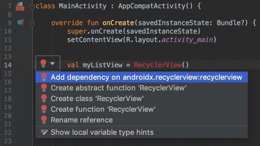Die neue Version von Android Studio