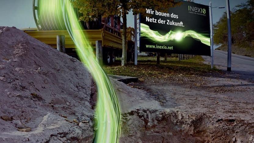 Werbebild zum Netzausbau von Inexio