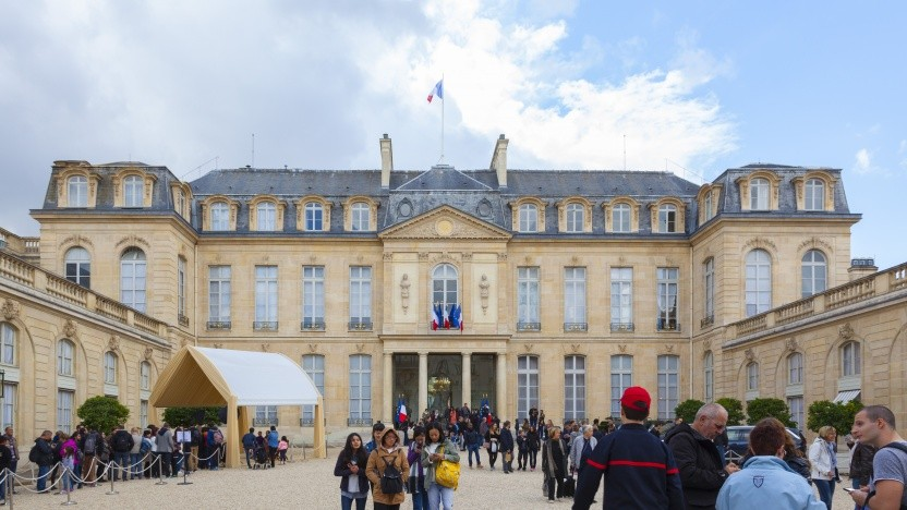 Der Élysée-Palast ist der Amtssitz des französischen Präsidenten.