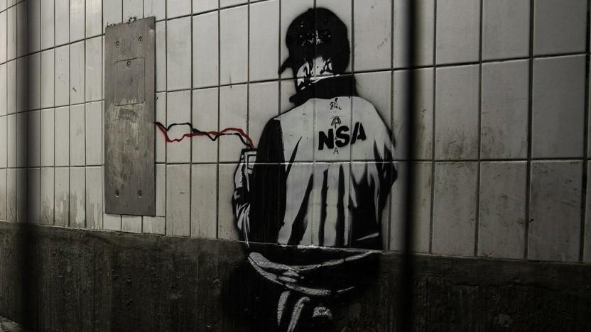 Graffiti zur NSA-Überwachung
