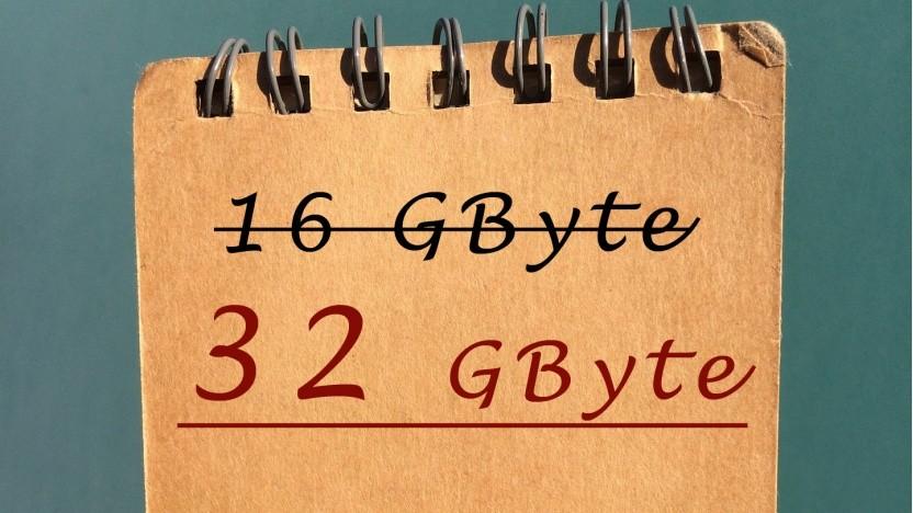 Windows 10 braucht künftig 32 Gbyte Speicherplatz.