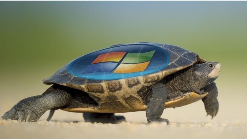 Update und Antivirensoftware verlangsamten Windows.
