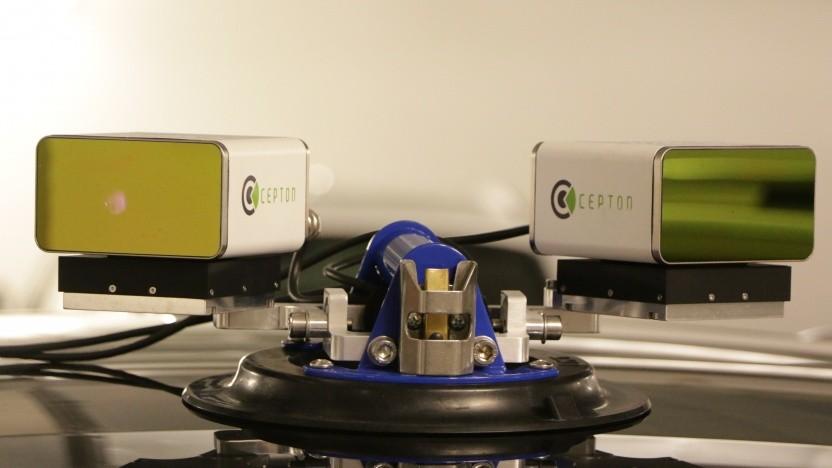 Zwei Cepton-Lidare auf dem Dach eines Testautos