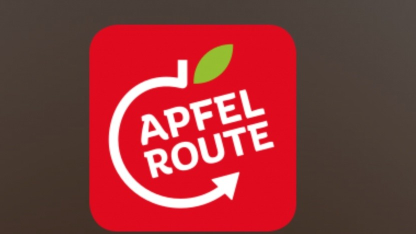 Das strittige Apfelrouten-Logo