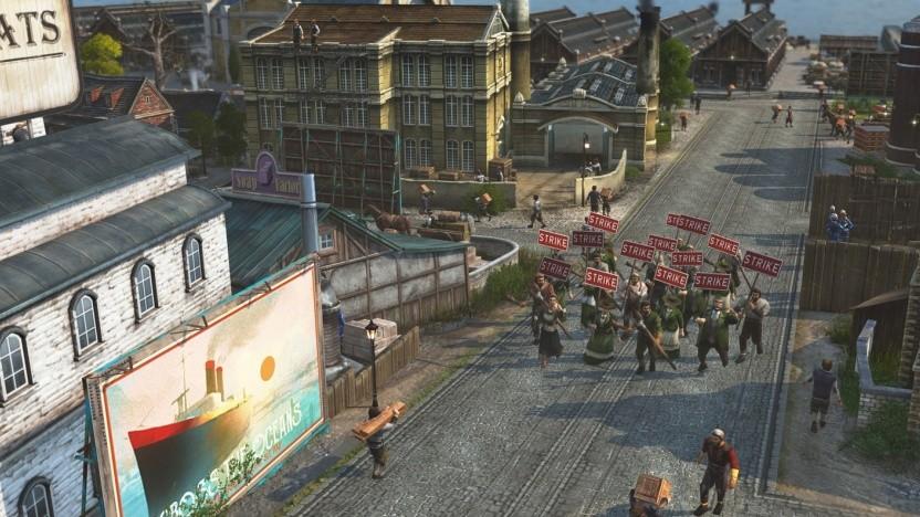 Doppelmoral der Entwickler? Sklaverei ist zu heikel, aber gegen Arbeiteraufstände in den Städten kann der Spieler durchaus drastisch vorgehen.