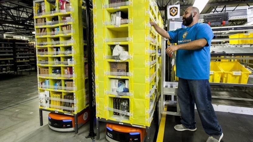 """Arbeiter bei Amazon in USA: """"Die Technik ist noch sehr weit entfernt von dem vollautomatischen Arbeitsplatz, den wir brauchen."""""""