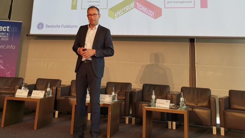 Bruno Jacobfeuerborn, Chef der Telekom-Tochter Deutsche Funkturm, am 2. Mai in Dresden