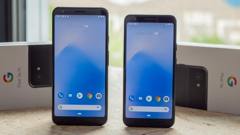 Das Pixel 3a XL und das Pixel 3a von Google